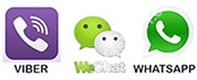 We are avaliable at Viber, WeChat & WhatsApp